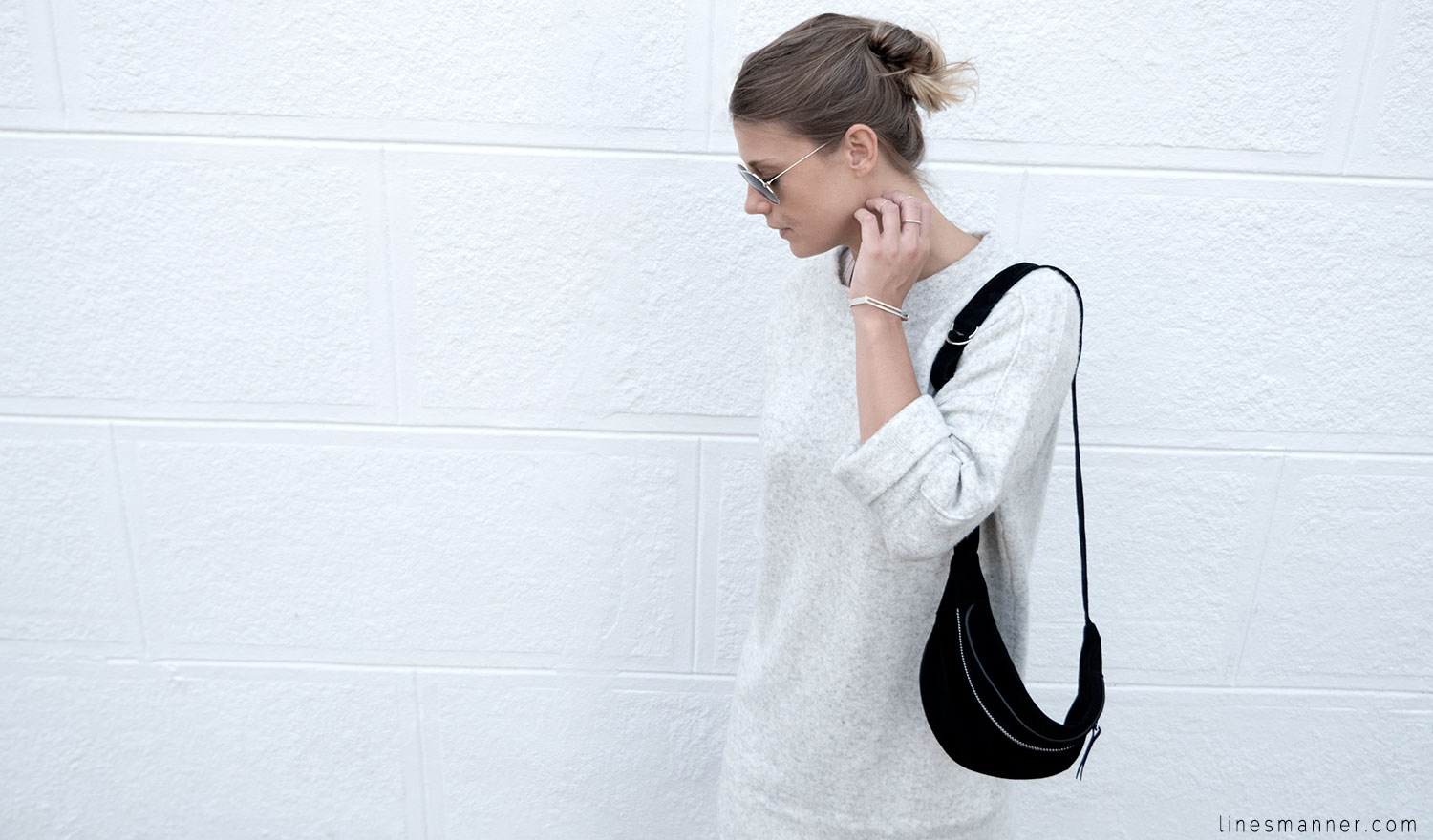 Lines-Manner-Fashion-Collaboration-The_Demeler-Monochrome-Grey_on_Grey-Fresh-Brightly-Outfit-Simplicity-Details-Trend-Minimalist-Flowy-Layering-Sleeves-Sweater_Dress-5