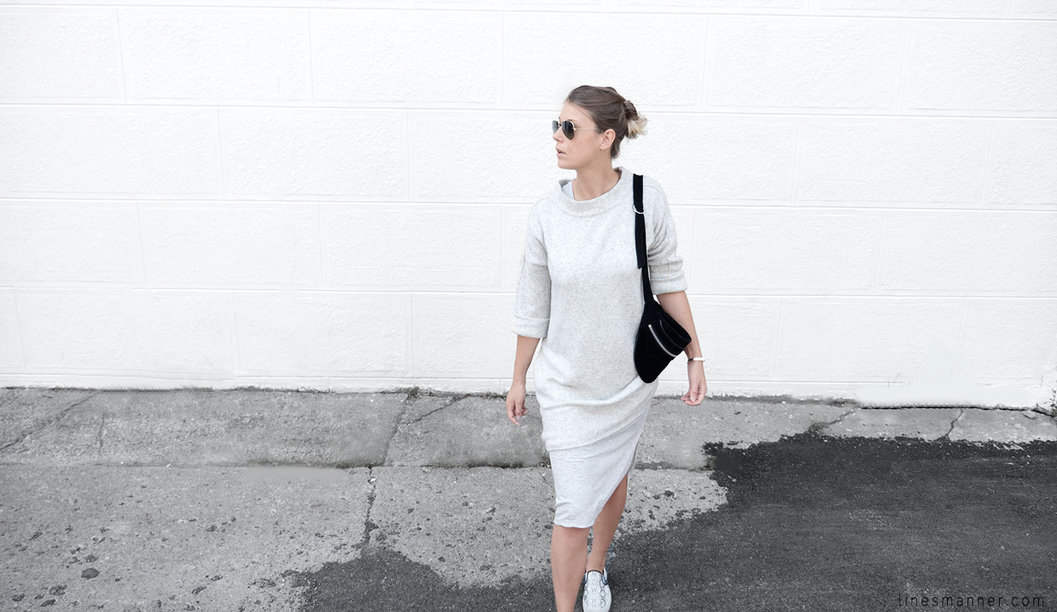 Lines-Manner-Fashion-Collaboration-The_Demeler-Monochrome-Grey_on_Grey-Fresh-Brightly-Outfit-Simplicity-Details-Trend-Minimalist-Flowy-Layering-Sleeves-Sweater_Dress-4
