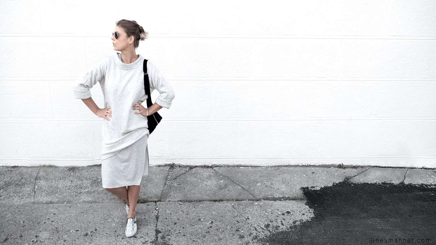 Lines-Manner-Fashion-Collaboration-The_Demeler-Monochrome-Grey_on_Grey-Fresh-Brightly-Outfit-Simplicity-Details-Trend-Minimalist-Flowy-Layering-Sleeves-Sweater_Dress-8