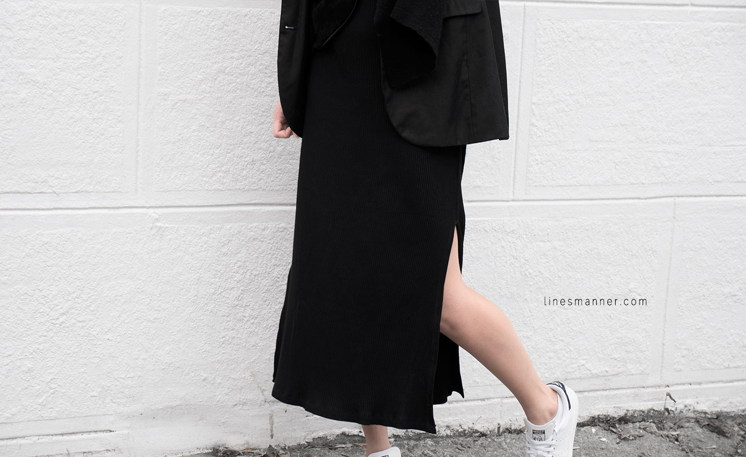 Lines-Manner-Black-Relaxed-Tone_on_Tone-Monochrome-Minimal-Sophistication-Comfort-Modern-Simplicity-Casual-Sporty_Luxe-Slit_Dress-Thrid_Form-Blazer-Essentials-Details-Basics-Timeless-Verstatile-Staple-Wardrobe-Sleek-Clean_Lines-All_Black_Everything-5