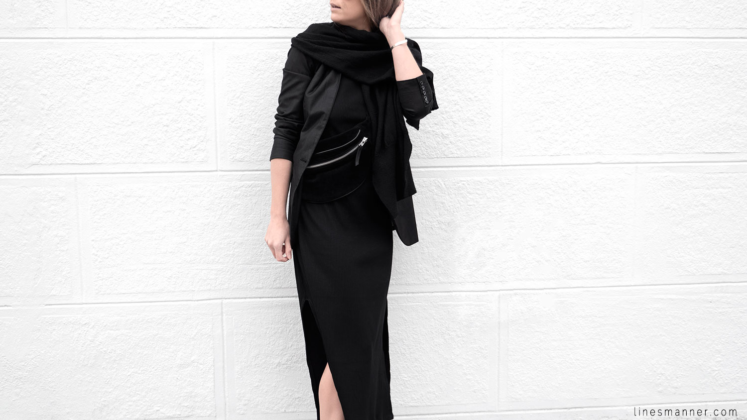 Lines-Manner-Black-Tone_on_Tone-Monochrome-Minimal-Sophistication-casual-Sporty_Luxe-Slit_Dress-Thrid_Form-Blazer-Essentials-Details-Basics-Timeless-Verstatile-Staple-Wardrobe-Sleek-Clean_Lines-All_Black_Everything