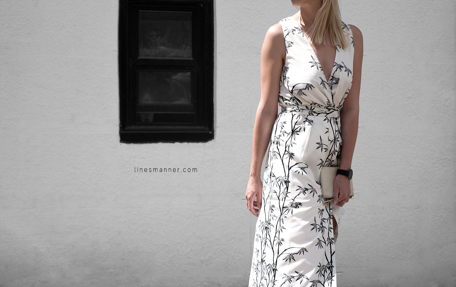 Lines-Manner-Minimal-Simplicity-Essentials-Bon_Label-Neon_Rose_Print-Bamboo-Slit_Dress-Wrap_Dress-Maxi_Dress-Fesh-Black_and_White-Casual-Elegant-Bright-Monochrome-10