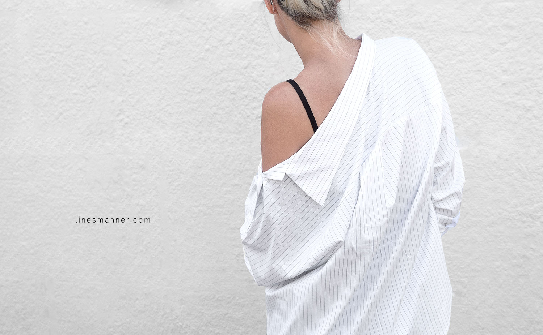 Lines-Manner-Simplicity-Off_shoulder-Monochrome-Noway_Monday-Details-Edgy6Backward-Sleek Statement_piece-Pinstripe-Business-Shirt-Minimal-Essentials-Outfit-Fashion-Minimal_fashion-Slides-Everlane-5
