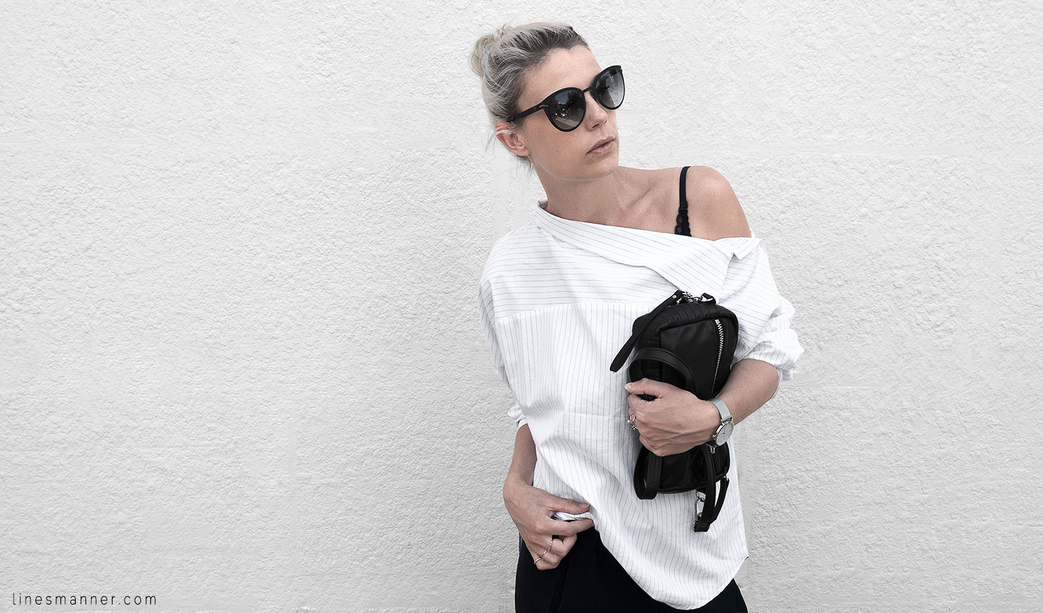 Lines-Manner-Simplicity-Off_shoulder-Monochrome-Noway_Monday-Details-Edgy6Backward-Sleek Statement_piece-Pinstripe-Business-Shirt-Minimal-Essentials-Outfit-Fashion-Minimal_fashion-Slides-Everlane-9